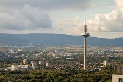 Frankfurt TV wierza Europaturm zdjęcie stock