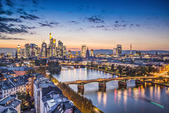Frankfurt Tyskland Arkivbild