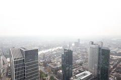 Frankfurt Tyskland skyskrapor med vit bakgrund Royaltyfri Foto