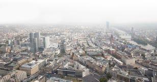 Frankfurt Tyskland skyskrapor med vit bakgrund Royaltyfria Bilder