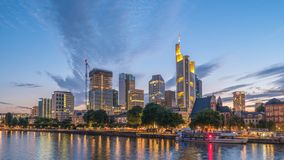 Frankfurt TysklandTid schackningsperiod arkivfilmer