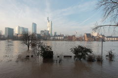 Frankfurt under Water Stock Image