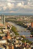 Frankfurt van hierboven royalty-vrije stock foto's