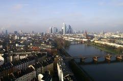 Frankfurt vanaf de bovenkant Royalty-vrije Stock Afbeeldingen