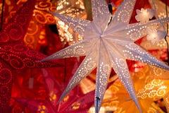 Frankfurt-Weihnachtsmarkt-Dekoration Stockbilder