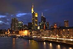 frankfurt widok główny panoramiczny Niemcy zdjęcia royalty free