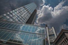 Frankfurt-Wolkenkratzer Stockbild