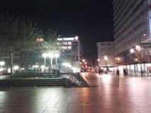 Frankfurt Zeil bei Nacht Royaltyfria Foton