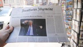 Frankfurter Allgemeine alemão Boris Johnson October Brexit do jornal filme
