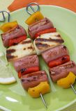 Frankfurter grilled and cheese Stock Photography