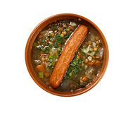Frankfurter Linsensuppe Royalty Free Stock Photo