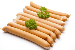 Frankfurter with parsley Royalty Free Stock Photography