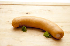 Frankfurter with parsley Royalty Free Stock Photos