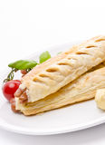 Frankfurter and puff pastry Royalty Free Stock Photography