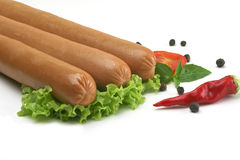 Frankfurter, sausage for hot dog Royalty Free Stock Image