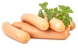 Frankfurter sausage isolated on white background Stock Image