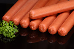 Frankfurter sausage (raw hot dog) Royalty Free Stock Photography