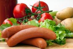 Frankfurter sausages Stock Photos