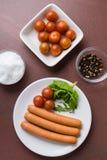 Frankfurter sausages Stock Image