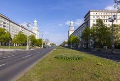 The Frankfurter Tor (Frankfurt Gate) in Berlin Royalty Free Stock Photography