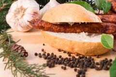 Frankfurterki world to known and beloved thin small sausages Royalty Free Stock Photography