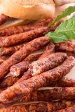 Frankfurterki world to known and  small sausages Stock Photo