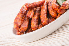 Frankfurterki world to known and  small sausages Royalty Free Stock Photos