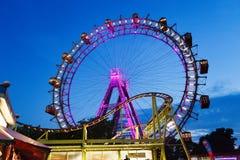 FrankfurterkorvPrater hjul Arkivfoto