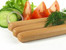 frankfurters завтрака гарнируют вкусное Стоковое Изображение RF