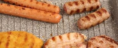 frankfurters зажарили мясо и сосиски Стоковые Изображения