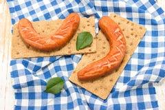 2 frankfurters Стоковая Фотография