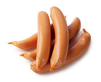 Frankfurters in packaging Stock Image