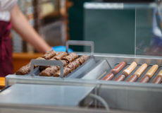 Frankfurters and sausages for hot dogs Stock Photography