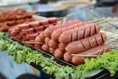 Frankfurters.Street food in Bangkok.  Stock Photography