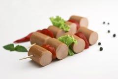 Frankfurterworst, worst voor hotdog Stock Fotografie