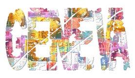 franki Geneva grunge szwajcara teksta ilustracji