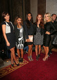 The Saturdays,Frankie Sandford,Mollie King,Rochelle Wiseman,Una Healy,Vanessa White,Front Row Royalty Free Stock Photo