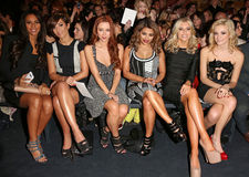 Frankie Sandford,Mollie King,Pixie Lott,Pixies,Rochelle Wiseman,The Saturdays,Una Healy,Vanessa White,Front Row Royalty Free Stock Photography