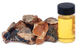 Frankincense dhoop with essential oil. In a bottle Royalty Free Stock Image