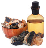 Frankincense dhoop with essential oil. A natural aromatic resin used in perfumes and incenses Royalty Free Stock Photos