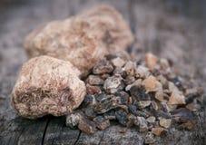 Frankincense dhoop, naturalny aromatyczny żywica fotografia royalty free