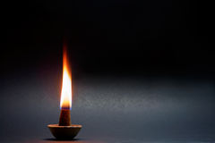 Frankincense flame. Royalty Free Stock Image