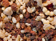 Frankincense and myrrh. Close-up of frankincense and myrrh Stock Image