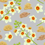 Frankincense seamless pattern. Boswellia tree flowers. Stock Photography