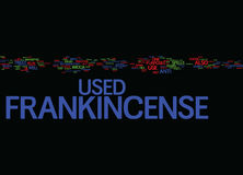 Frankincense Text Background  Word Cloud Concept. FRANKINCENSE Text Background Word Cloud Concept Stock Image