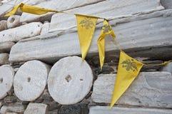 Frankish kasztel przy Parikia miastem przy Paros wyspą w Grecja Fotografia Stock