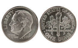 franklin δεκαρών νομισμάτων roosevelt Στοκ Εικόνα
