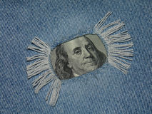 Franklin. In jeans Royalty Free Stock Photos