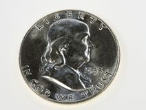 Franklin 50c kawałek Zdjęcia Stock