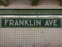 Franklin Avenue Subway Station imagens de stock royalty free